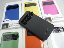 Smart View Wake/Sleep Flip PU Leather Cover Case For Samsung Galaxy S4 i9500 SIV