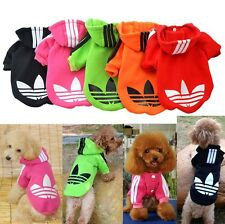 Small Pet Cute Puppy Dog Cat Autumn Coat Sport Clothes Hoodie Sweater Dogs