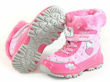 Hello Kitty New Selly Kids FUR Snow Boots Shoes for Girls Winter Waterproof Warm