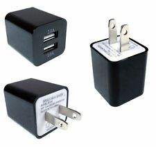 1 to 1000pc Black Dual Port Fast 2.1A 10W USB Wall Charger AC Adapter Wholesale