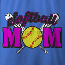 SOFTBALL MOM NEON shirt Sizes sm to 5XL cotton short sleeve t shirt CHOOSE COLOR