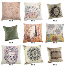 "18"" Vintage Home Decor Cushion Cover Throw Pillow Case Square Sofa Living Room"