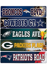 "NFL Licensed Team Logo Street / Drive Signs 3.75"" x 16"" Pick Your Team!!!"