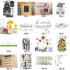 Black Wall Sticker Decal Mural Paper Home Decor Art Removable Castle Vinyl