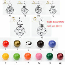 Wholesale Solid sterling Silver Harmony ball Mexican Bola Bell Diy Cage Caller