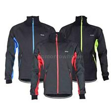 ARSUXEO Men Fleece Thermal Winter Cycling Jacket Windproof Wind Coat Clothing