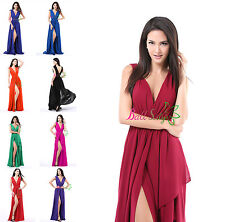 Sexy Split Long Formal Prom Dresses Party Bridesmaid Evening Ball Gowns US2-US16