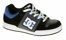 DC TURBO KIDS/BOYS/YOUTH/CHILDRENS SKATE SHOES BLACK / DARK SHADOW