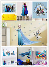 1X Removable Wall Sticker About Frozen Snow Queen Elsa Mermaid Wall Decals Decor