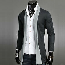 New Mens Clothing Coats Jackets Knitwear Fashion Collar Design Black Gray A