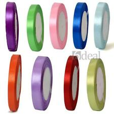 25 Yards Satin Ribbon Roll Wedding Party Craft DIY Decoration 10 Colors