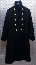 Genuine British Royal Navy Vintage Full Length Greatcoat Goth SIZE LARGE - 1948