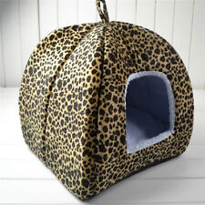 New Leopar Winter Warm Removable Cushion Mat Print Dog Cat Pet Bed House