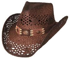 NEW Montecarlo Bullhide PURE COUNTRY Toyo Straw Western Cowboy Hat Brown NWT