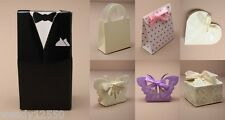 PACK OF 12 WEDDING FAVOUR/GIFT BOXES, FLAT PACK, CHOOSE DESIGN, CHEAPEST ON EBAY