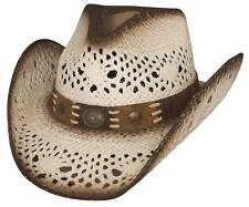 NEW Montecarlo Bullhide PURE COUNTRY Toyo Straw Western Cowboy Hat White NWT
