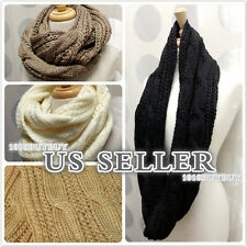 us seller-NEW Women Winter Fashion Knit Cable Infinity Scarf-Beautiful&Soft!