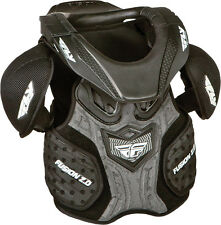 Fly Racing Black Youth Fusion Junior Chest Roost Protector Dirt Bike by Leatt MX