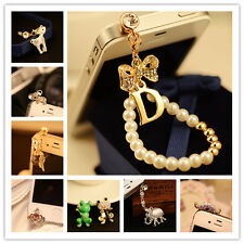 Bling Crystal Bowknot Anti Dust Plug Earphone Charm 3.5mm Jack  For  Cellphone