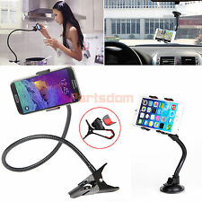 Lazy Bed Desk Holder+Car Windshield Suction Cup Rotating Stand Mount For Phone