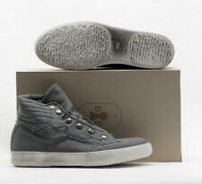 $395 MENS BRUNO BORDESE GREY WASHED HIGH TOP
