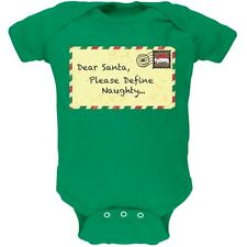 Dear Santa Please Define Naughty Green Newborn Infant One Piece Onesie