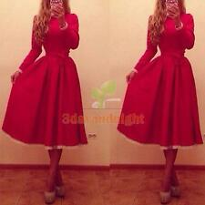 Sexy Women Long Sleeve Tunic Bandage Cocktail Party Long Dress Prom Ball Gown NI