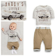 Casual Classic Cars Baby Toddler Boys Pullover Coat T-shirt Pants Outfits set
