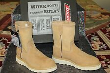 Dickies Mens Nubuck Leather Pull On Work & Safety Boot Lightweight WM9112 Wheat