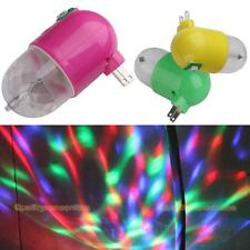 #QZO 3W Colorful RGB LED Rotating Night Light Lamp US Plug for Party Disco Gift