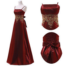 CHEAP XMAS New Satin Long ormal EVENING Bridesmaid Dresses Prom Party Dress Gown