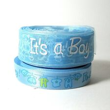 Baby shower decorations, blue ribbon satin organza by the meter, cake decorating