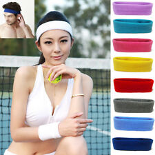 New Womens Mens Sports Sweat sweatband Headband Yoga Gym Stretch Head Hair Band