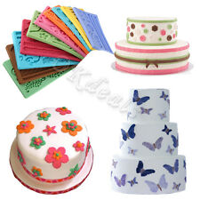New 14 Types of Silicone Fondant Cake Embossing Gum Paste Decorating Baking Mold