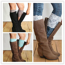 Women's Fashion Flower Stretch Lace Boot Cuffs Toppers Leg Warmers Socks