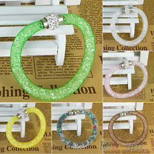 LUXURY POPULAR MAGNETIC BUCKLE CLASP BRACELET CRYSTAL NET BAND BANGLE HAND CHAIN