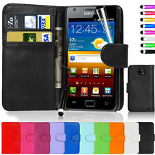 Magnetic Book Wallet Flip Leather+PC Card Case Cover For Samsung Galaxy S2 i9100
