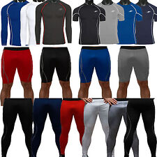 Men Compression Base Layer Underwear Running Yoga Pants Tights Shorts Top Shirts