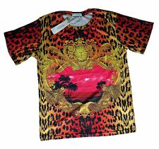 Brand New Authentic Versace T-Shirt Miami Red Baroque Elements M,XXL