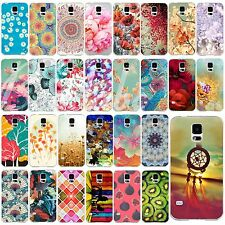 Retro Flower Painting Draw Case Cover Shell For Samsung Galaxy S4 i9500 S5 i9600