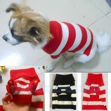 Stripe Beloved Apparel Warm Coat Sweater Puppy Jumpsuit  Pet  Clothes Lovely
