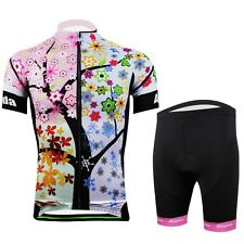Hot 2014 New women Cycling Jersey+ Short Set Rider Bike Suits Bicycle Clothes