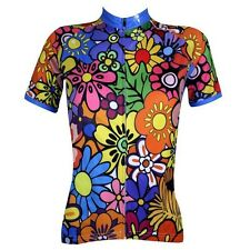New Summer Women Cycling Bike Bicycle Short Sleeve Jersey Wear Colorful Flowers