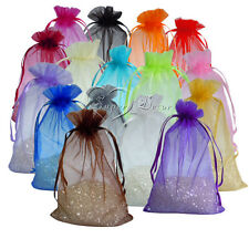 150PCS 10x15cm Organza Gift Bags Jewelry Pouches Wedding Party Xmas Favor Decor