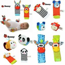 Infant Baby Wrist Watchs Foot Socks Rattles Hand Foot Finders Soft Plush Toys 0+