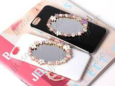 Colorful Flower Oval Mirror Glossy Cell Phone Case for iPhone 6 4.7""