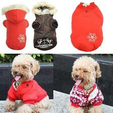 Warm Winter Small Dog Pet Thick Clothes Apparel Outercoat Snowflake Hoodie Coat
