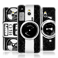 HEAD CASE HAND DRAWN GADGETS GEL BACK CASE COVER FOR HTC ONE MINI