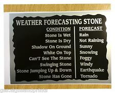 WEATHER FORECASTING STONE SILVER - PRINTED DECAL STICKER - CHOICE OF SIZES
