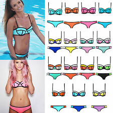 Fashion Women's Bandage Push-up Bikini Set Padded Bra Triangle Swimsuit Swimwear